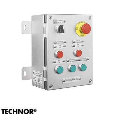 7-button push-button box / IP66 / ATEX / wall-mounted