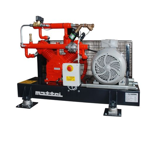air compressor / stationary / electrically-powered / lubricated