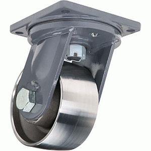 swivel caster / base plate / very heavy-duty / metal