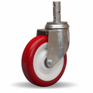 swivel caster / threaded stud / rod / steel