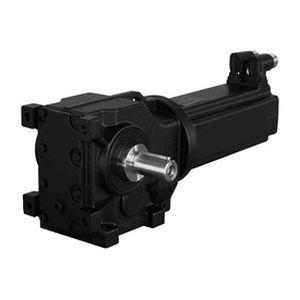 AC servo-gearmotor / orthogonal / worm