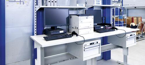 office workstation / ergonomic / mobile / height-adjustable