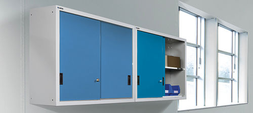 storage cabinet / wall-mount / hinged door / sliding door
