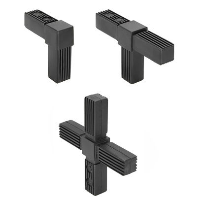 square tube connector / stainless steel