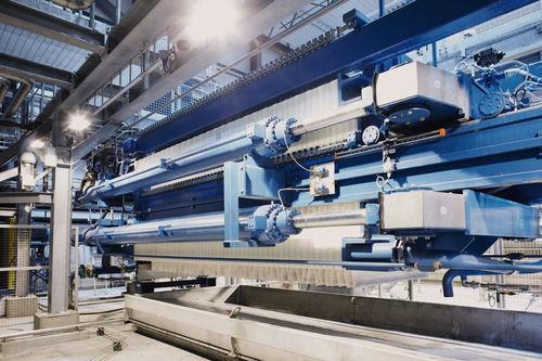frame filter press / platform / automatic