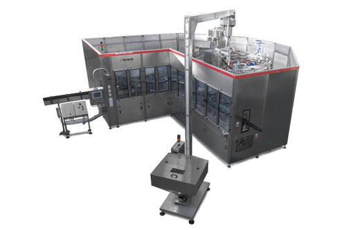 industrial filling machine / beverage / for glass bottles / automatic