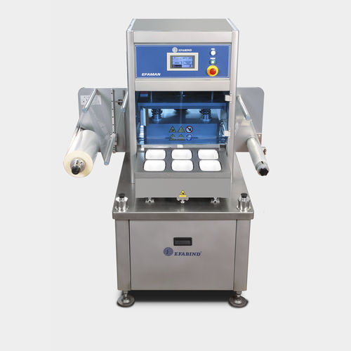 linear array tray sealer / semi-automatic / vacuum / with modified atmosphere packaging