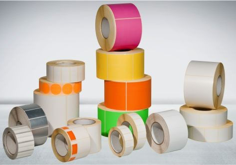 self-adhesive label / thermal transfer / paper / polyester