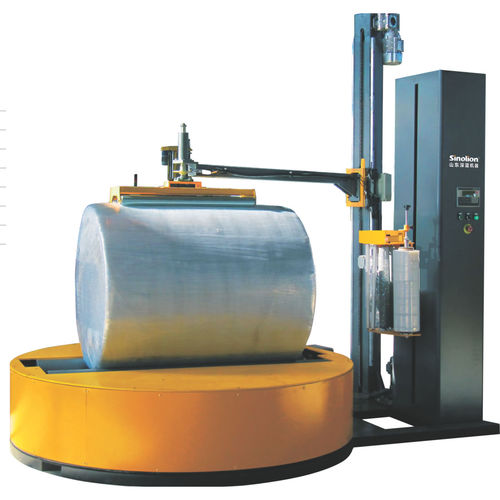 turntable stretch wrapper / fully automatic / paper roll / stretch film