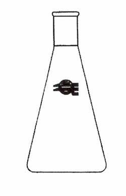 Erlenmeyer flask / borosilicate glass