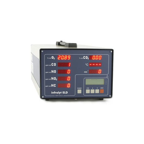 exhaust gas analyzer / concentration / portable / for monitoring gas emissions