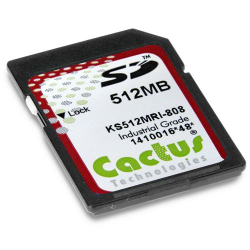 SD memory card / 512 MB / 2 GB / 8 GB Cactus 808 Series Syslogic GmbH