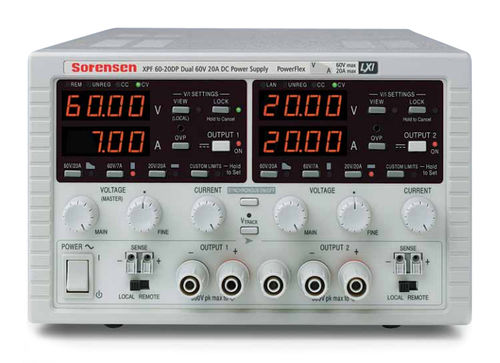 AC/DC power supply: benchtop voltage rectifier 35 - 60 V, 175 - 840 W | Sorensen XPF series AMETEK Programmable Power