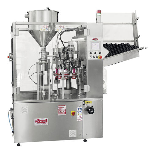 automatic tube filler and sealer max. 3 700 p/h, 2482 x 1060 x 2241 mm | E250 Matic TGM - TECNOMACHINES srl