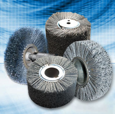 circular abrasive nylon brush for deburring Applied Brushes