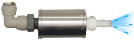 cold end muffler for vortex tube cabinet cooler Nex Flow Air Products Corp.