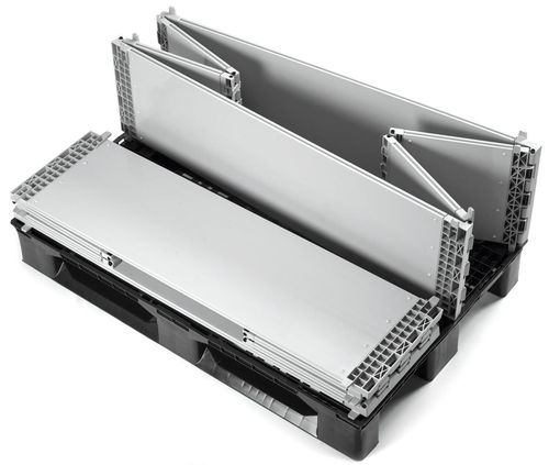 collapsible plastic pallet-box 1 200 x 800 x 330 mm, 10.4 kg | SF800FB SMART FLOW EUROPE