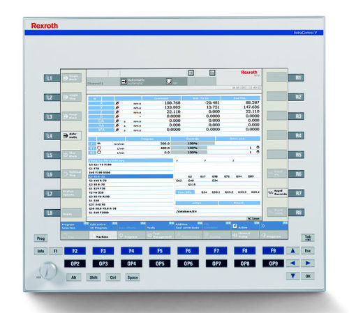 computer numerical controls (CNC) for machine tool IndraMotion MTX standard Bosch Rexroth - Electric Drives and Controls