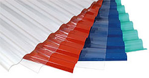 corrugated polycarbonate panel (PC) SUNTUF® Palram Industries Ltd.
