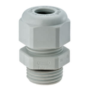 explosion proof liquid tight nylon cable gland (straight through, threaded) IP68 - IP69k, - 20 - 95 °C | HSK-K-Ex series   HUMMEL AG