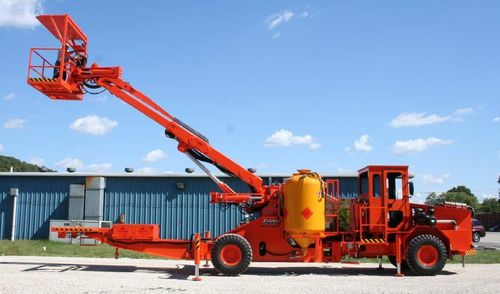 explosives carrying/loading vehicle : ANFO charger 30' | Powder Loader J. H. Fletcher &Co.