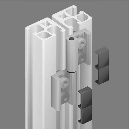 hinge for aluminum profile max. 400 N Minitec