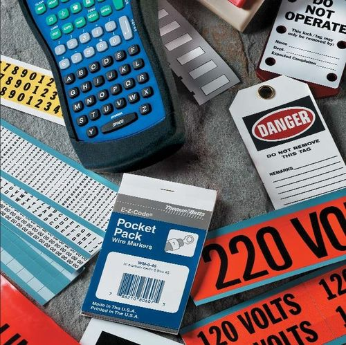 identification label EZ Code® series  Thomas & Betts