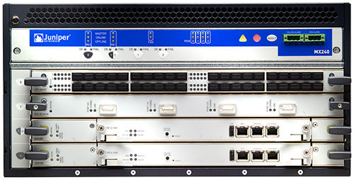 industrial communication edge router 960 Gbps | MX240 Juniper Networks
