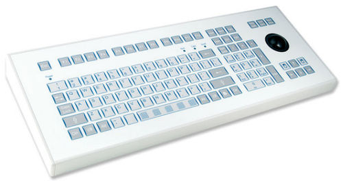 industrial keyboard with trackball 0.3 mm, 2.6 N, IP65 | KS15266 INDUKEY