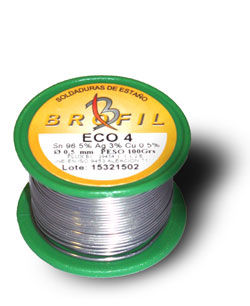 lead-free soldering wire ECO 4 Sn96 Ag3 Cu1 Broquetas