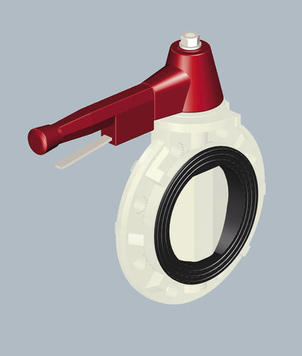 lever operated plastic butterfly supply valve DN50 - DN150 | 3700 SAFI
