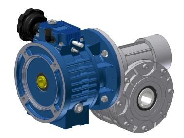 mechanical speed variator with worm gear reducer MKF - MI, MKF - MU Siti