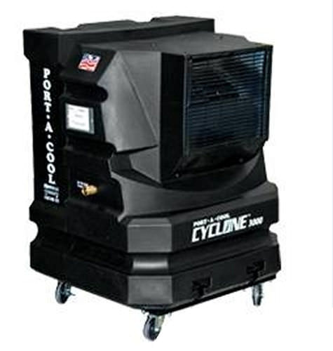 mobile evaporative cooler 93 m³/min, 75 m² | cyclone 3000 lc-europe
