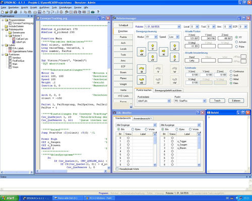motion control software RC+ version 4.1 EPSON Factory Automation