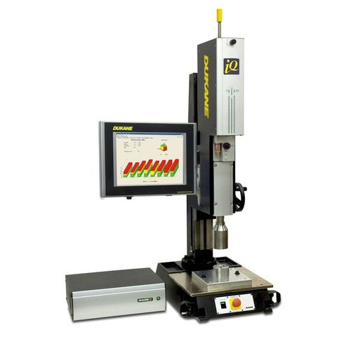 pneumatic ultrasonic welding press ES Dukane Intelligent Assembly Solutions