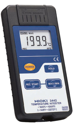 portable digital thermometer -100 - 1300 °C | 3442 HIOKI E.E. CORPORATION