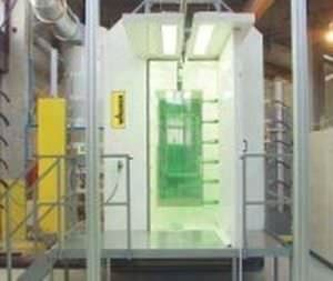 powder coating booth SuperTech, ICM Steel, BASIC WAGNER