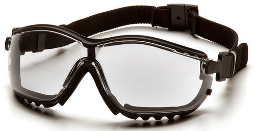 rugged wrap-around protective goggles V2G, ANSI Z87.1-2003, CE EN 166 Pyramex
