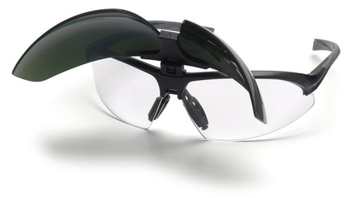 safety glasses with side shields for welders (anti-scratch coating) Onix Plus, CE EN170 & EN169 Zertifiziert, mit IR Filter Pyramex