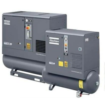 screw compressor with oil injection (stationary) 40.3 - 57.2 cfm, 107 - 189 psig | GX 2-11 ATLAS Copco Compressors USA