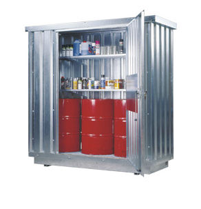 security storage container for hazardous products (galvanised steel) max. 1 000 kg/m2 CHEMO
