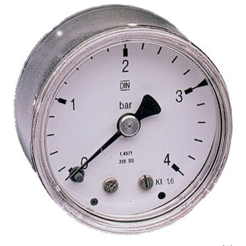 stainless steel Bourdon tube pressure gauge 1/8&quot; - 1/4&quot;, max. 60 bar AirCom Pneumatic