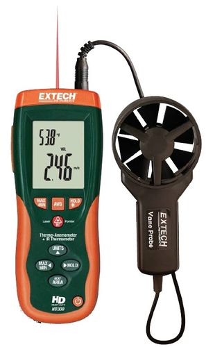 thermo-anemometer -50 To 500 ºC, 0.4 - 30.00 m/s | HD300 Extech