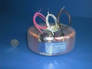 toroidal power transformer 16 - 1 000 VA, 6 - 24 V c2ei