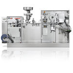compact thermoforming machine / plastic film / for pharmaceuticals packaging / automatic