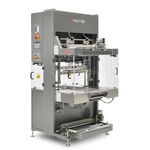 sleeve shrink wrapping machine / fully automatic / for heat-shrink films / intermittent-motion