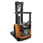 electric reach truck / side-facing seated