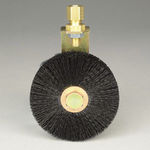 circular brush / for cleaning / stainless steel / nylon