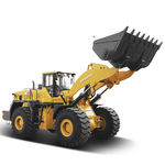 wheel loader / articulated / for construction