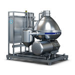 centrifugal separator / for milk / for the food industry / vertical
